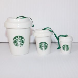 2016 Starbucks Mermaid Nester Nesting Ornaments
